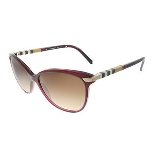 Link to Burberry  BE 4216 301413 Womens Bordeaux Frame Brown Gradient Lens Sunglasses Similar Items in Women's Sunglasses