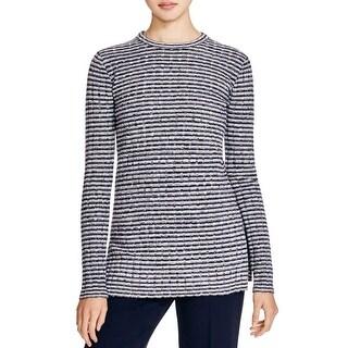 Theory Womens Belira Pullover Sweater Striped Crew