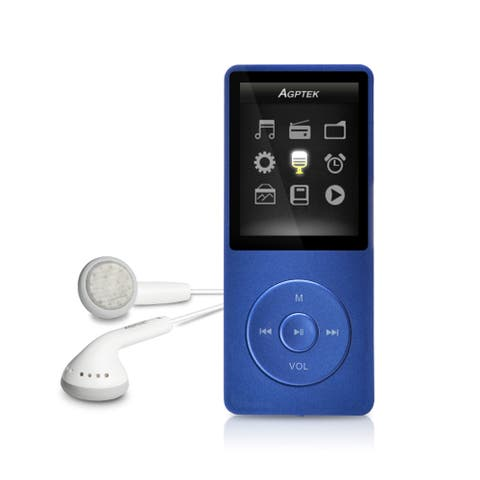 AGtPK 2018 NEW UI 8GB & 70 Hours Playback MP3 Lossless Sound - Dark Blue - SIZE