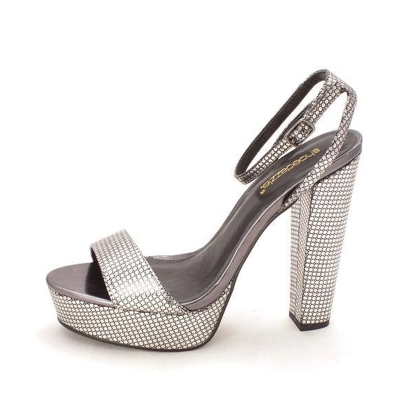 ShoeDazzle Womens Lizzeth Open Toe Ankle Strap Platform Pumps - 9