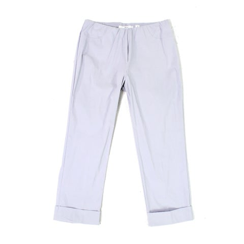 Illusion Cloud Womens Cropped Cuffed Pull On Pants