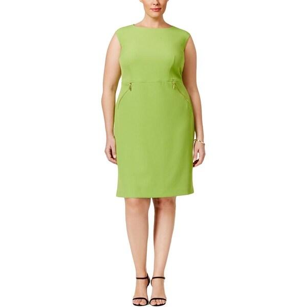 Kasper Womens Plus Wear to Work Dress Crepe Zipper
