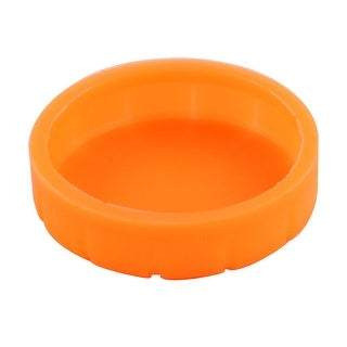 Stage KTV Rubber Wireless Microphone Battery Protect Bottom Cover Orange