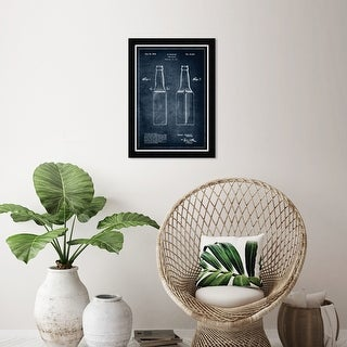 Link to Wynwood Studio 'Design for a beer bottle 1934' Drinks and Spirits Blue Wall Art Framed Print Similar Items in Art Prints