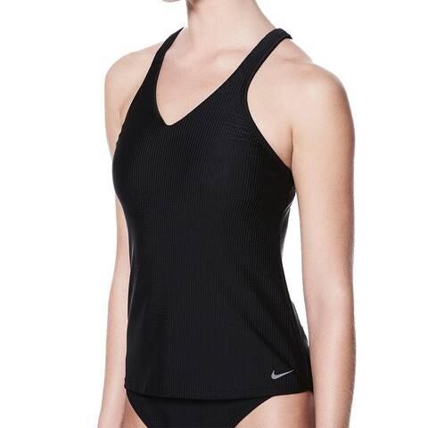 Nike Black Womens Size Small S Racerback Tankini Top Swimwear