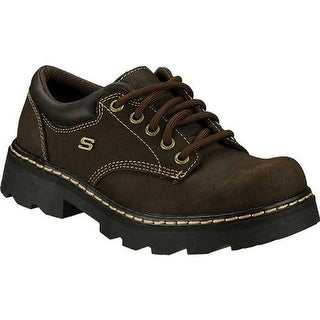 Skechers Women's Parties Mate Chocolate Scuff Resistant Leather