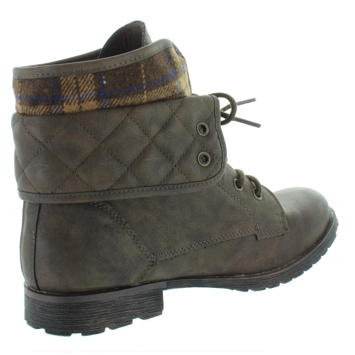 Rock And Candy By Zigi Womens Spraypaint Q Combat Boots Faux Leather Ankle