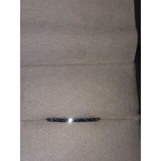 0.15 Carat Blue Color Real Diamond Half Eternity Anniversary Ring