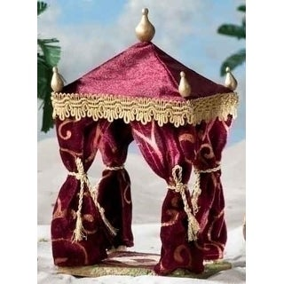 "2-Piece Fontanini 5"" Nativity Village Burgundy King's Tent and Purple Pillow Set"
