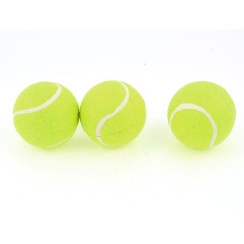 Unique Bargains 3 Pcs 6cm Sports Competition Match Tennis Balls Yellow Green