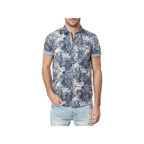 e0d0fd4a98d3 Shop Buffalo David Bitton Mens Button-Down Shirt Foliage Printed Point  Collar - XXL - Free Shipping On Orders Over $45 - Overstock - 22649500