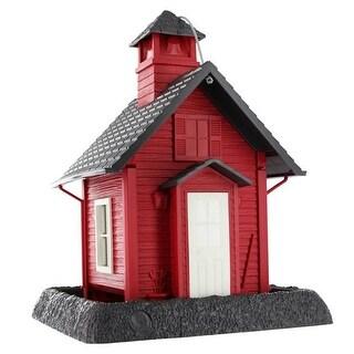 North States Lil Red School House Village Collection Bird Feeder 9084