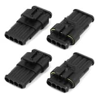 Electrical 4 Pin Way Waterproof Connector Plug Auto Part 4 Kit