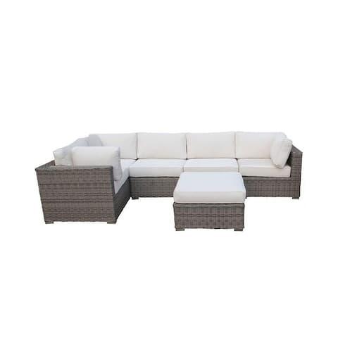 Cozy Corner Patios Garden Furniture  5 Seater Sectional Patio Furniture  6-Piece Outdoor Sectional