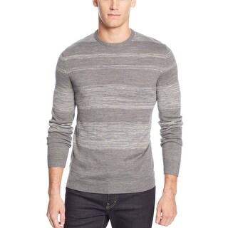 Calvin Klein CK Parallel Striped Crewneck Sweater Fraction Grey Heather Combo