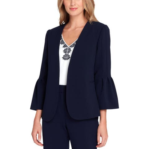Tahari ASL Womens Petites Blazer Suit Separate Office Wear