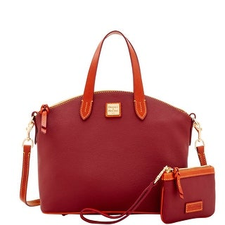 Dooney & Bourke Eva Satchel & Med Wristlet (Introduced by Dooney & Bourke at $248 in Jun 2017) - CRANBERRY