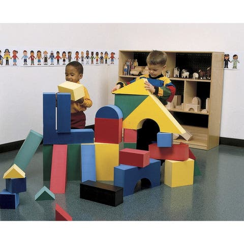 Edushape Giant Geometric Shapes Foam Block Set, 32 Pieces