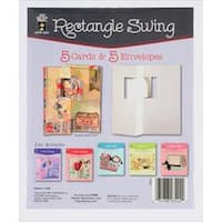 Rectangle Swing - Hot Off The Press Die-Cut Cards W/Envelopes 5/Pkg