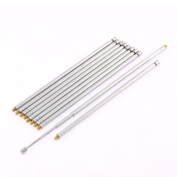 Unique Bargains FM AM TV Radio 4 Sections Telescopic Antenna Aerial 43cm Length 10 Pcs