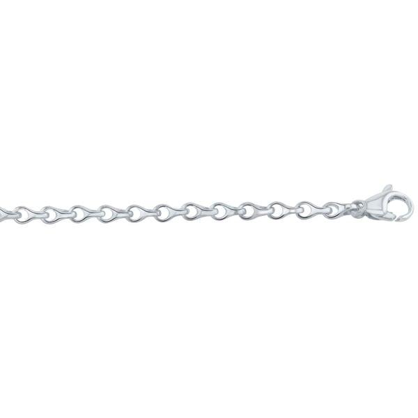 Men's 10K Sterling Silver 8.5 inch Fancy Link Chain Bracelet