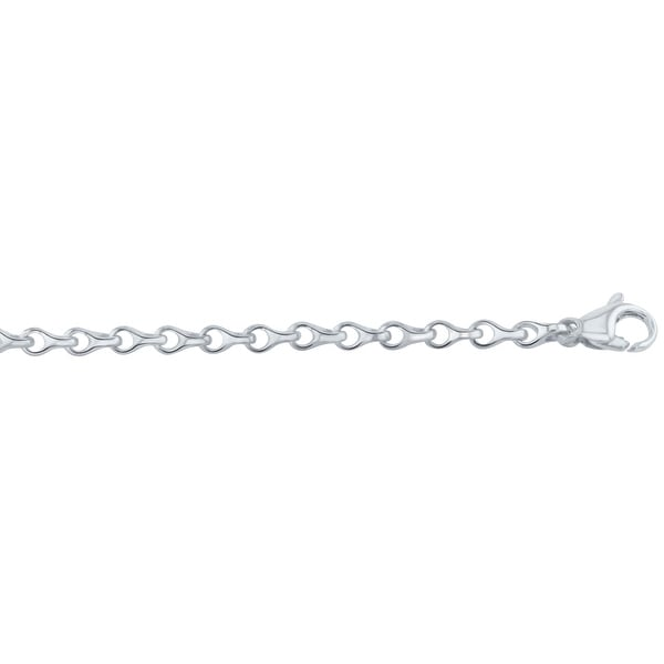 Men's 10K White Gold 30 inch link chain