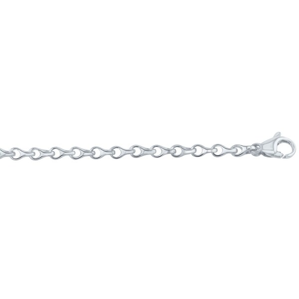 Men's 10K White Gold 32 inch link chain