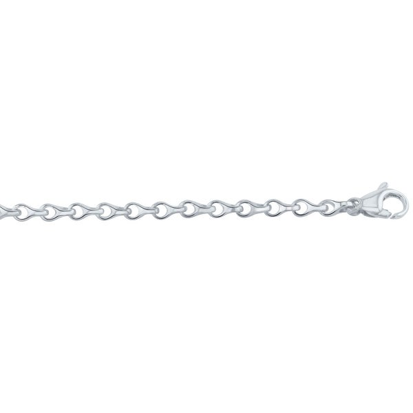 Men's 10K White Gold 8.5 inch Fancy Link Chain Bracelet