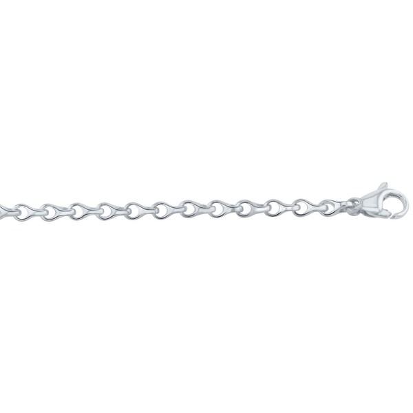 Men's 14K White Gold 9 inch Fancy Link Chain Bracelet