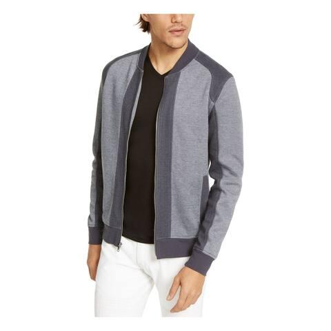 INC Mens Gray Zip Up Jacket XS
