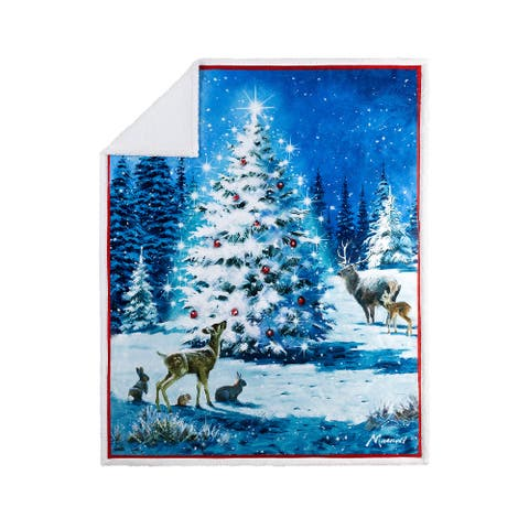 Throw Printed Christmas Magical Tree
