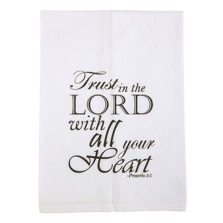 With Christian Blessings Bible Verse Printed Tea Towel with Trust