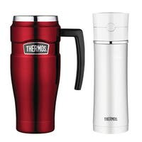 Thermos King 16oz Travel Mug & 18oz Stainless Steel Hydration Bottle
