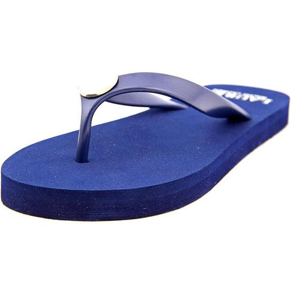 Lauren Ralph Lauren Elissa II Women Open Toe Synthetic Blue Flip Flop Sandal