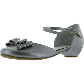 Zarro Girls Party Communion Wedding Shoes - Silver (5 options available)