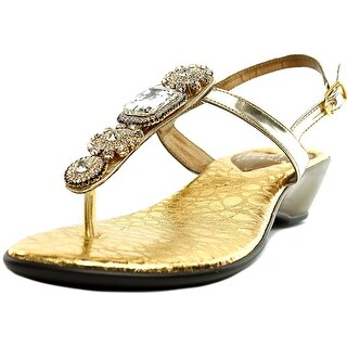 Love and Liberty Tiffany Women Open-Toe Synthetic Gold Slingback Sandal