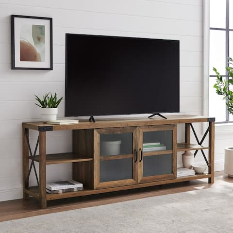 The Gray Barn 70-inch Metal X Accent TV Console