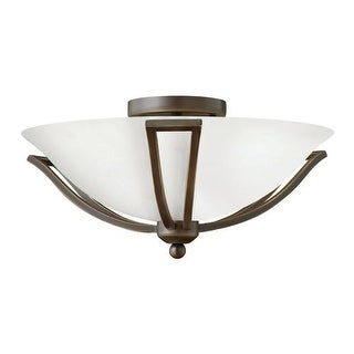 """Hinkley Lighting 4660-OP-LED 1 Light 16.75"""" Width LED Indoor Semi-Flush Ceiling Fixture with Opal Shade from the Bolla"""