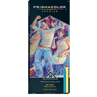 Prismacolor Art Stix Non-Toxic Smooth Waterproof Colored Pencil Stick Set, 3-1/4 X 1/4 in, Assorted Color, Set of 36
