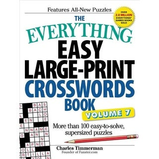 Everything Easy Large-print Crosswords Book - Charles Timmerman