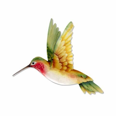 Handmade Hummingbird Yellow and Green Garden Decoration (Philippines)