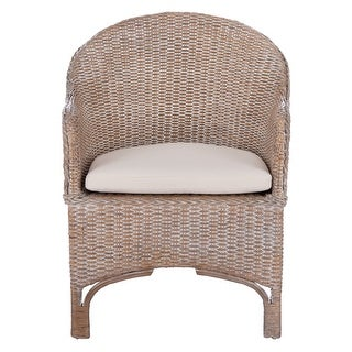 """Link to SAFAVIEH Antonia Rattan Accent Chair with Cushion - 22"""" W x 26.8"""" L x 33.5"""" H Similar Items in Living Room Chairs"""