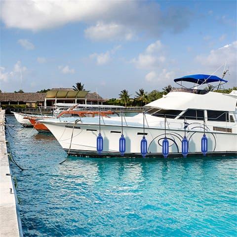 """[LX] 6.5""""(D) x 23""""(L) Outdoor Yacht Crash Float Blue"""