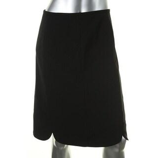 Kasper Womens Dolce Vita Crepe Scalloped Hem Straight Skirt - 10