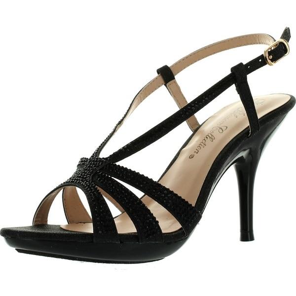 De Blossom Womens Lin-103 Strappy Bridesmaid Prom Party Sandal Pumps Shoes 0632272ea7d3