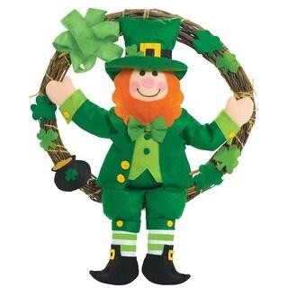 Leprechaun 16 x 13 in. St. Patricks Day Grapevine Wreath - Pack of 2