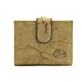 Buxton Double Cardex Wallet Women Leather Tan Wallet