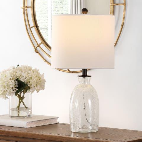 "SAFAVIEH Lighting 23-inch Nakula Glass Table Lamp - 12"" x 12"" x 23"""