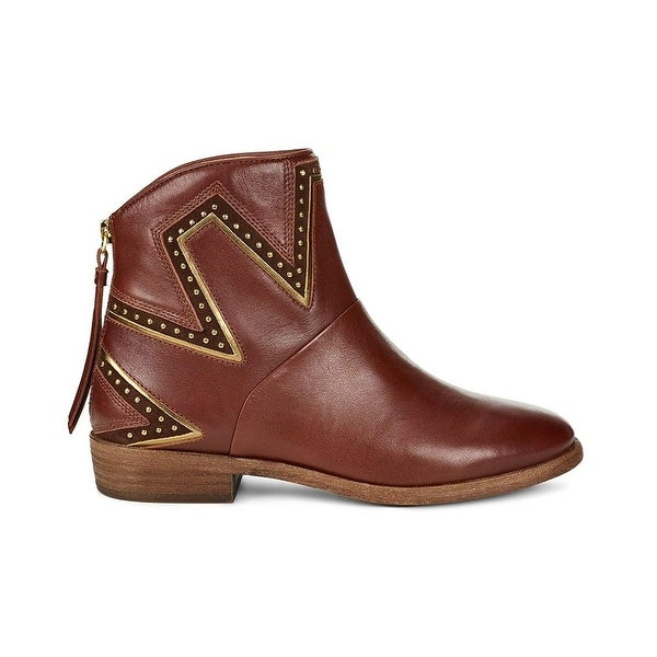 Shop Ugg Womens Lars Almond Toe Ankle Fashion Boots Free