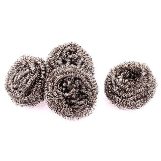 Kitchen Gadget Cup Dish Bowl Steel Wire Cleaner Cleaning Ball Scourer 4pcs
